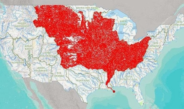 These are all the rivers that feed into the Mississippi River.