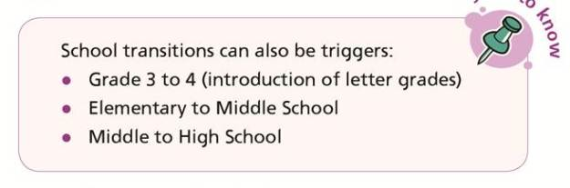 School transitions can also be triggers