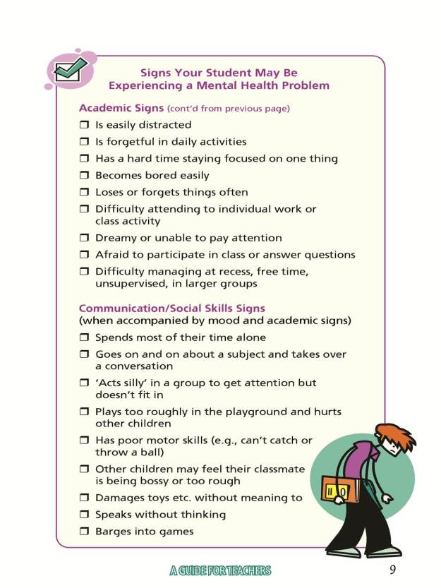 Signs Your Student May Be Experiencing a Mental Health Problem pg2